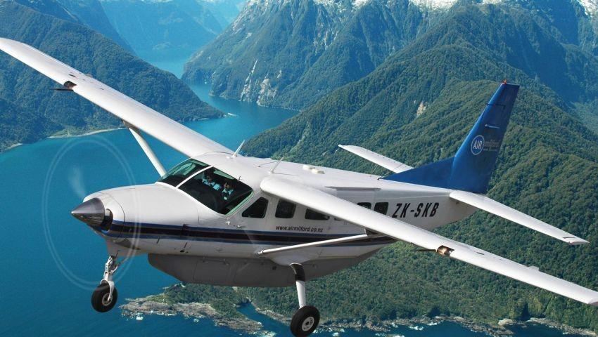 airplane tiqy, Milford Sound Vuelo de Regreso Tour