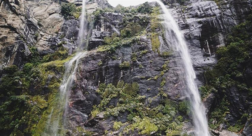 waterfall tiqy, Milford Sound Fly Back Tour