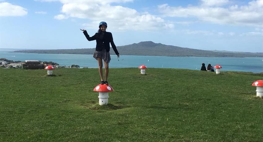 girl in mushroom, Mt. Victoria Magic