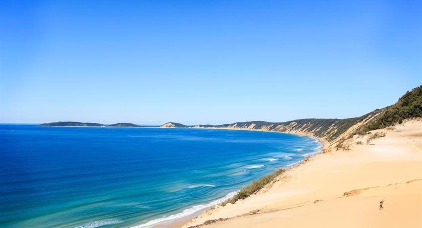 beach tiqy, Recorrido de Noosa hasta Rainbow Beach