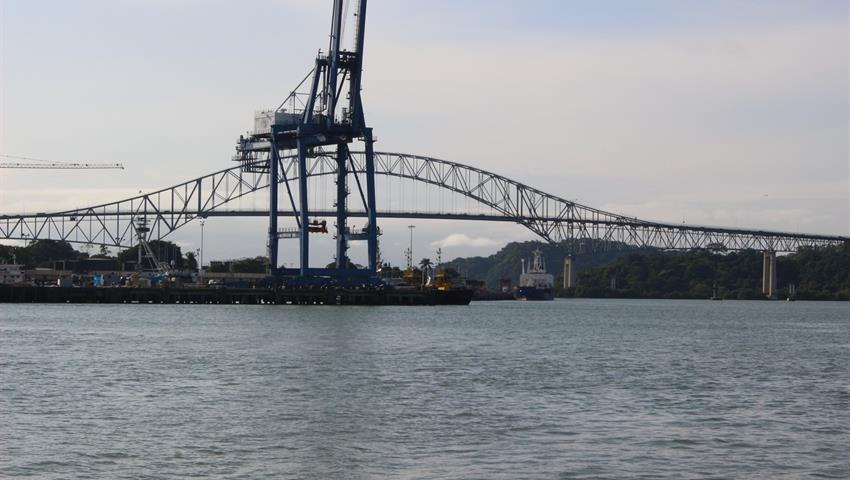 View of the Americas Bridge - Tiqy, Ocean to Ocean Tour through the Panama Canal