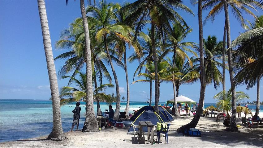 1, Tour de 2 días / 1 noche en camping a San Blas desde la ciudad de Panamá