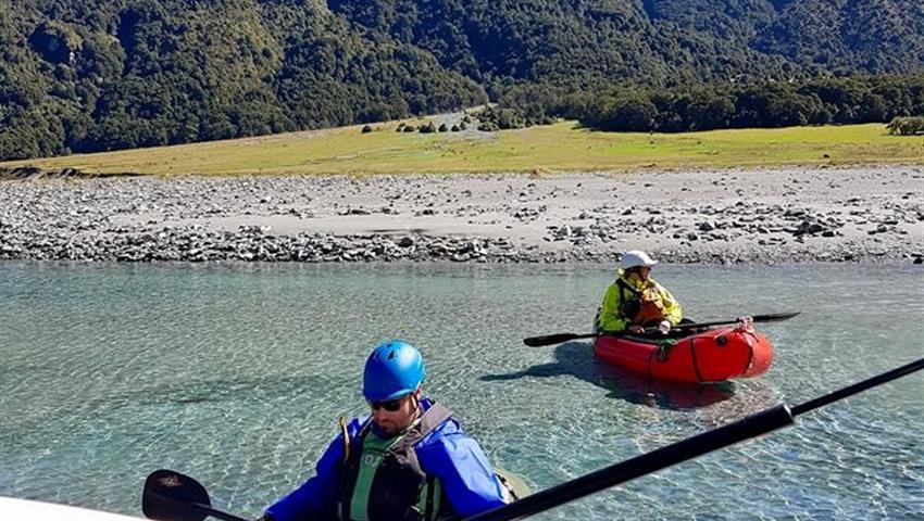 river tiqy, Packraft Wanaka