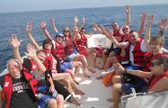 save landing zone in the boat - tiqy, Parasailing