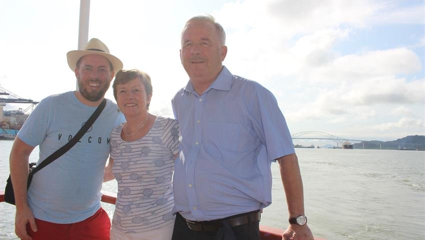 Happy family doing the tour - tiqy, Partial Transit through the Panama Canal