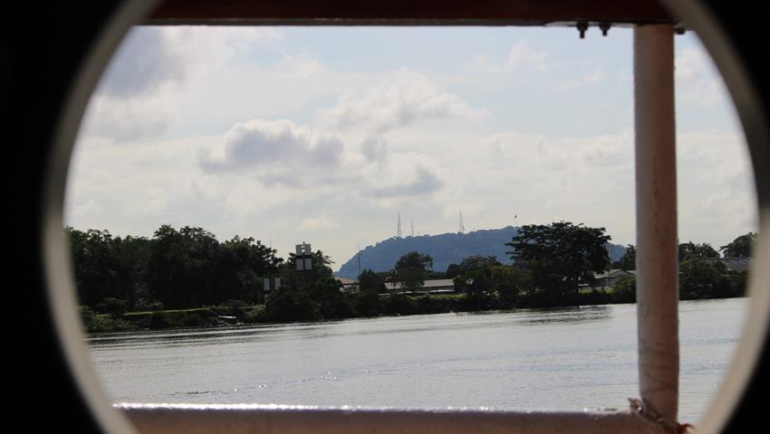 view of the greenery - tiqy, Partial Transit through the Panama Canal