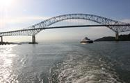 Amazing view of the Americas Bridge - tiqy, Partial Transit through the Panama Canal