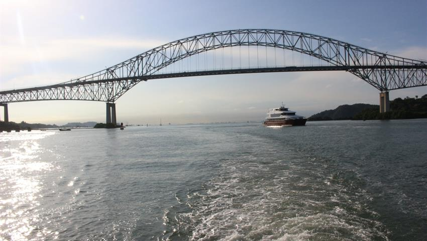 Amazing view of the Americas Bridge - tiqy, Partial Transit Canal Tour