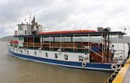 Ferry for the tour - tiqy, Partial Transit through the Panama Canal