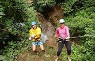 Walking, Rafting and Waterfall Rappelling Adventure