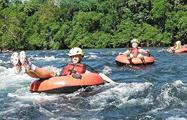 Rainforest Tubing Tours tubing people in tubing, Rainforest Tubing Tours