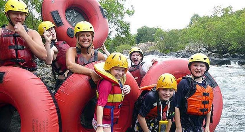 rainforest tubing tours group of people, Rainforest Tubing Tours