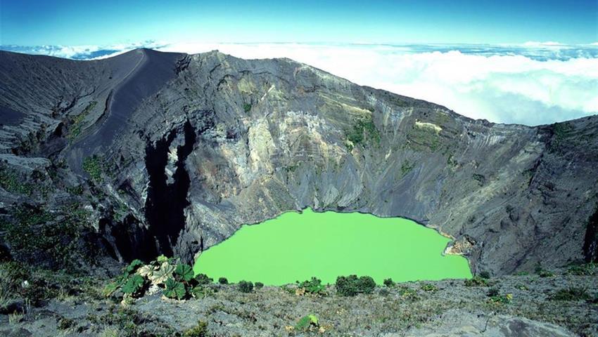 Poas Volcano National park, Poás Volcano, Doka and La Paz Waterfall