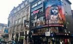Les miserables banner, Soho and Covent Garden tour