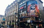 Les miserables banner, Soho and Covent Garden tour
