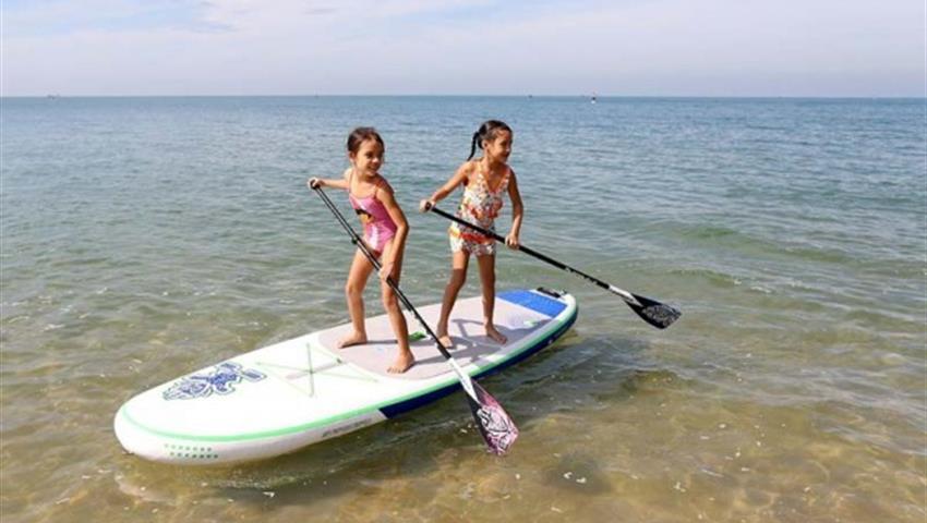No ages needed, Lecciones de Stand up Paddle Board en Playa Venao