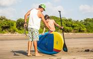 Like the Father, the son, Stand Up Paddle Board Lessons In Playa Venao