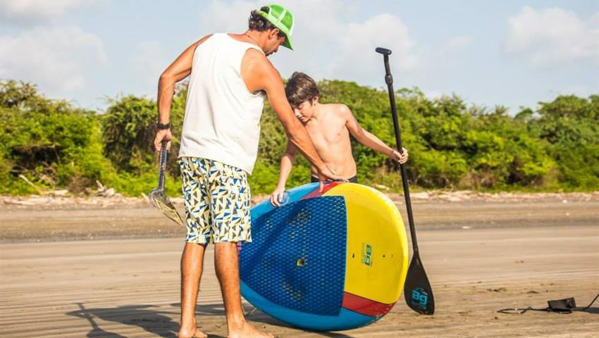 Like the Father, the son, Lecciones de Stand up Paddle Board en Playa Venao