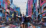 Street Art Walking Tour man, Street Art Walking Tour