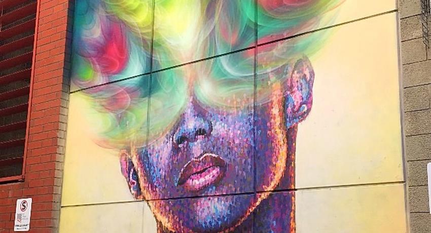 Street Art Walking Tour man and woman, Street Art Walking Tour