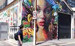 Street Art Walking Tour man and woman draw, Street Art Walking Tour