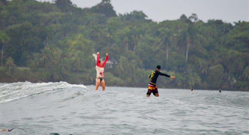 Nothing is more satisfying than the success, Surf Lessons in Bocas del Toro