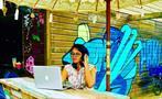 setting the mood, Surf Shuttle in Bocas del Toro