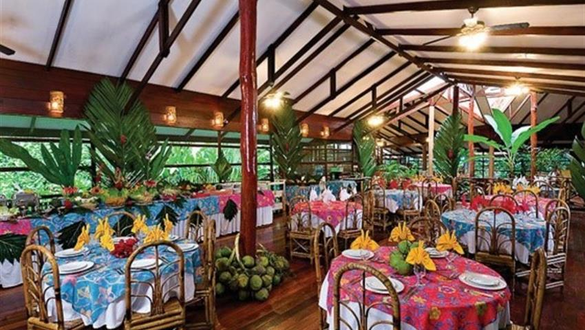 Restaurant at the hotel el tortuguero, Tortuguero National Park