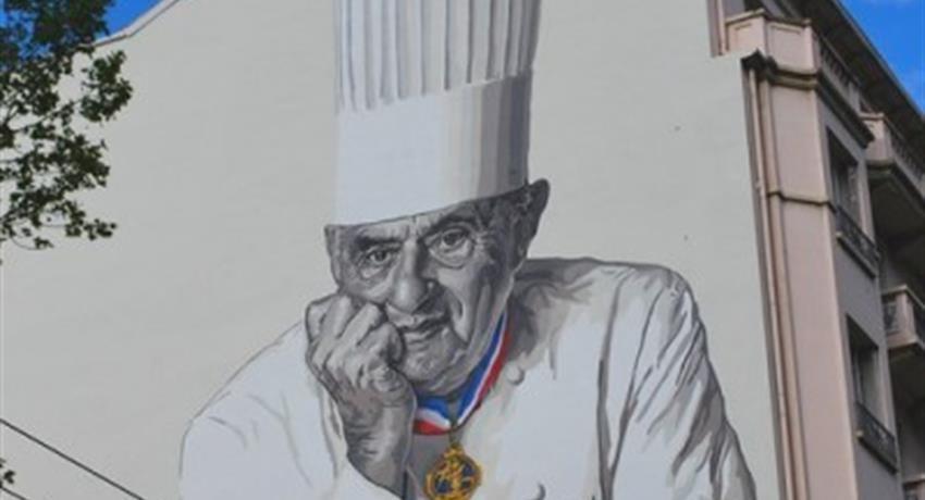 paul bocuse mural tiqy, Tour in Lyon Indoor Market