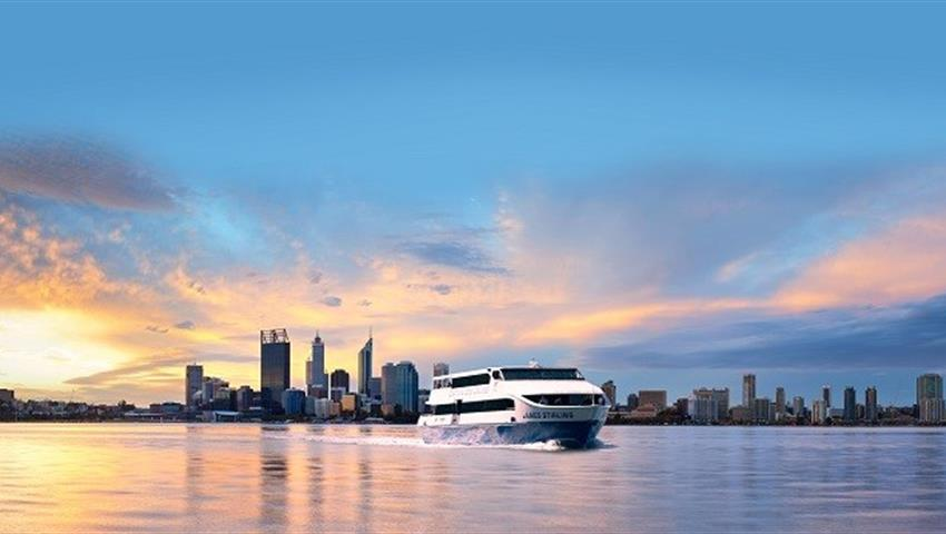 sunset tiqy, Tram and Swan River Lunch Cruise